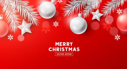 Festive Christmas Banner Background