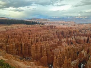 Dramatic landscape with Bryce canyon USA.