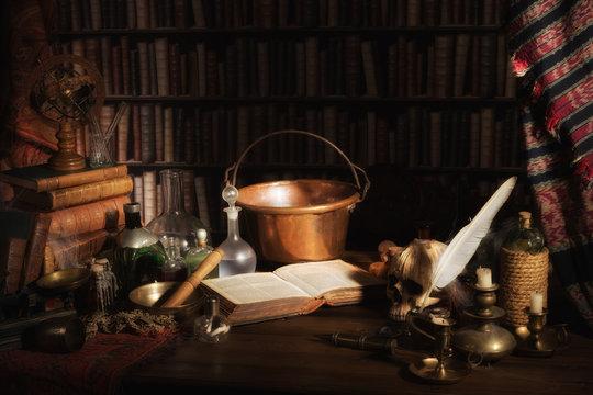 Alchemist kitchen or laboratory