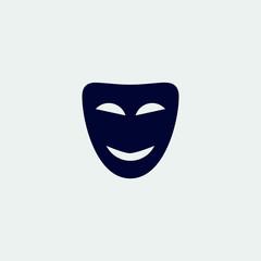 mask icon, vector illustration. flat icon