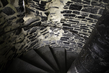 Interior stairs castle
