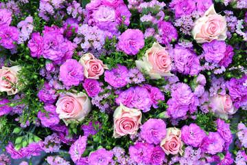 Blumen, Hintergrund, Wand, pink, rosa