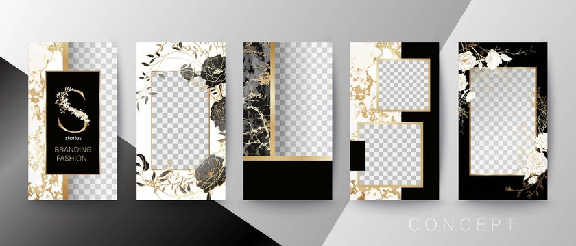 Creative card, invitation, frame for text or photo. Quote template. Art concept for Stories.