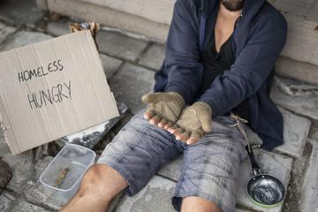 Beggar in the street