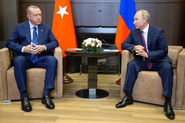 Russian President Putin meets with his Turkish counterpart Erdogan in Sochi