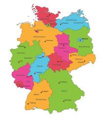 Karte von Deutschland - politische Karte - interaktiv
