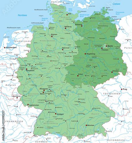 Karte Von Deutschland Ost West Neue Bundesländer Interaktiv