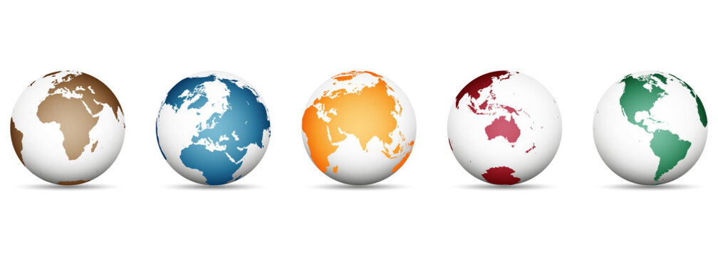 3D Vector Globes with World Maps