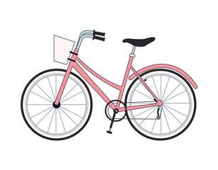 Vintage bike isolated