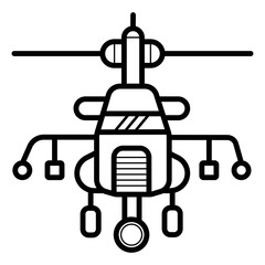 military helicopter icon vector illustration