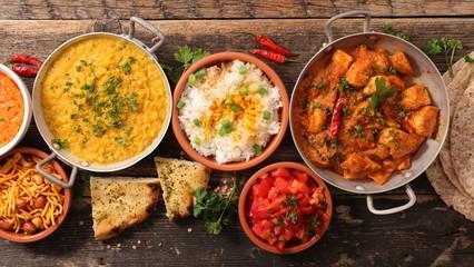 assorted india food cuisine Fototapete