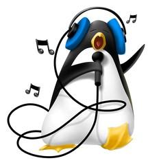 pinguino con le cuffie