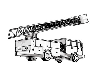 fire engine vector