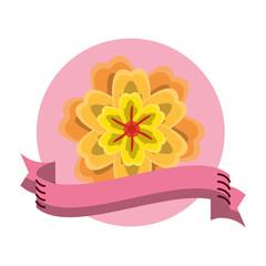Flower round icon
