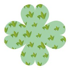 Leaves flower shape