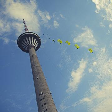 base jumping in Tallinn