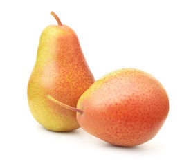 Two ripe red pears