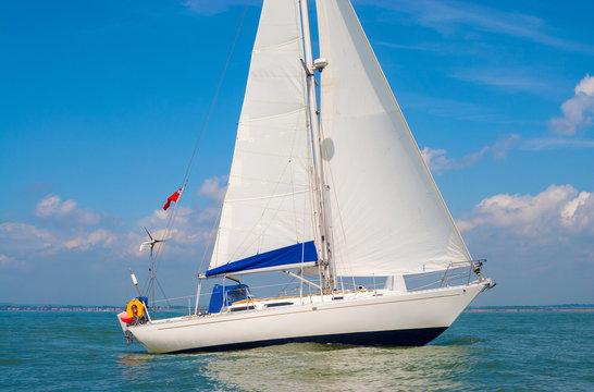 Sailing Boat Yacht at Sea