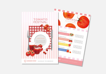 Food Flyer Layout with Red Accents