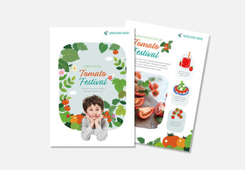 Food Flyer Layout with Red and Green Accents