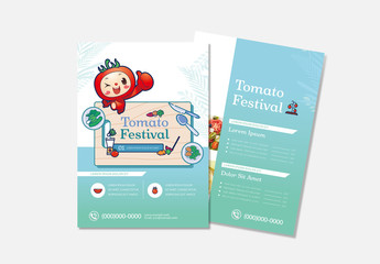 Food Flyer Layout with Teal Accents