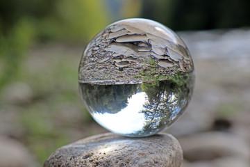 Sense bei Thörishaus in Kristallkugel, Bern, Schweiz