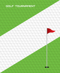 Golf invitation flyer poster template graphic design