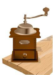 coffee grinder on white