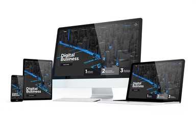 Wall Mural - mobility devices digital business modern responsive design