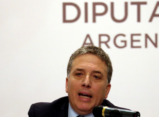 Argentine Economy Minister Dujovne speaks during the introduction of the budget bill at the Congress in Buenos Aire