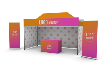 Promotional Outdoor Event Trade Show Materials Mockup