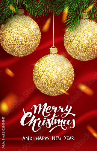 christmas design vector template calligraphic merry christmas