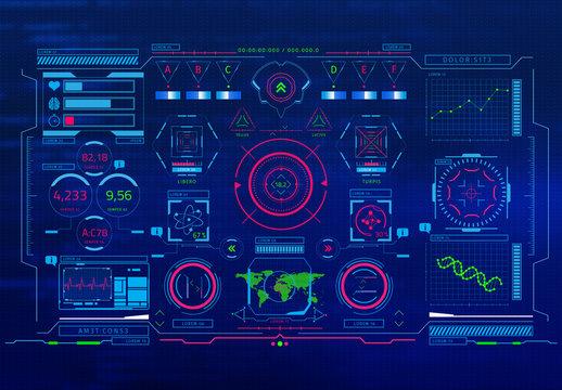 Images d'incrustation pour interface de science-fiction