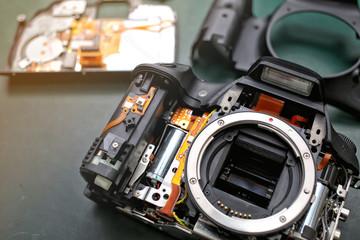 Repair and maintenance camera Single Lens Reflex