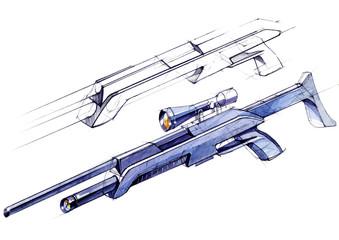 Sketch design is a project of a modern versatile lightweight rifle.