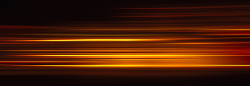 Abstract red light trails in the dark background