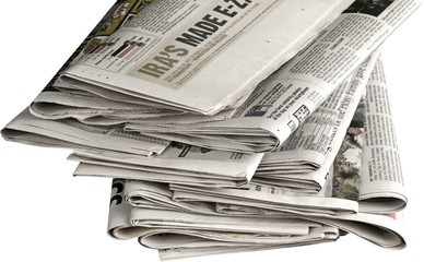 Stack of Newspapers - Isolated