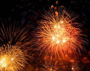 Nice fireworks on the sky