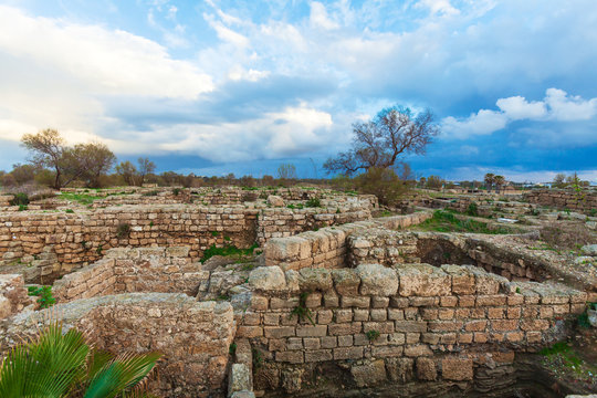 Ruins of Antique Harbor, Caesarea Maritima