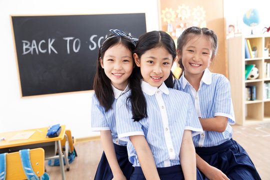 Cute little girls in the classroom