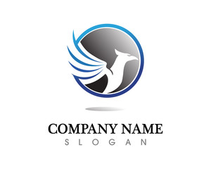 Falcon Eagle Bird Logo Template vector icon