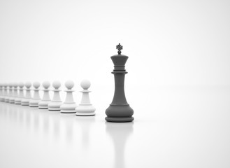 Leadership Dark Chess King In Front