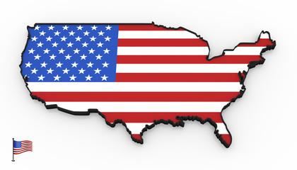 USA high detailed 3D map