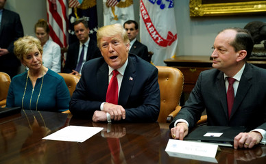 Trump holds a worker meeting at the White House in Washington