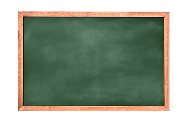 Empty green chalkboard texture hang on the white wall. double frame from greenboard and white background. image for background, wallpaper and copy space. bill board wood frame for add text. Wall mural