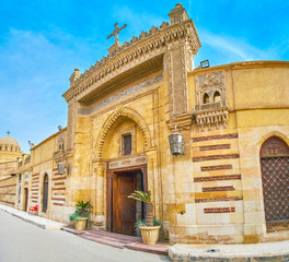 The entrance gates to the Hanging Church in Cairo, Egypt