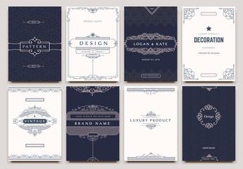 Monogram creative cards