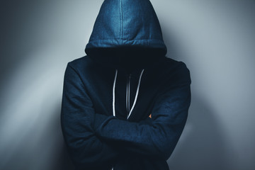 crime hacker on dark background