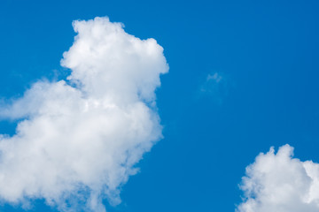 Beautiful white clouds and blue sky on a sunny day