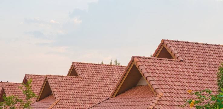 Tile roofs, pattern